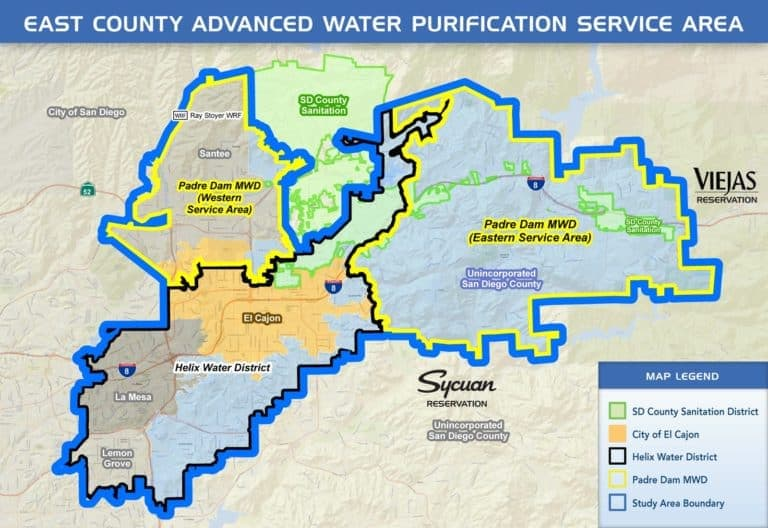 East County Advanced Water Purification Service area